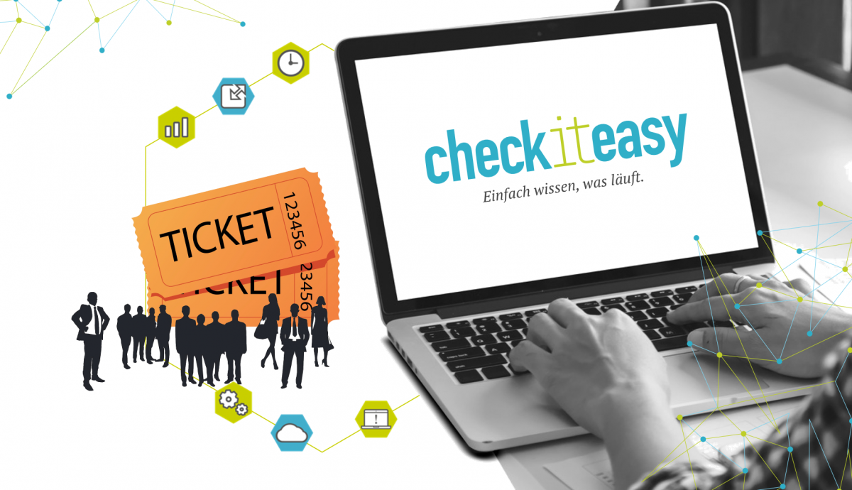 checkiteasy vereint CRM-Funktionen und Ticketsystem.